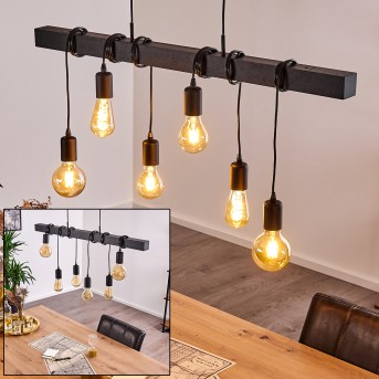 BARBENGO Pendant Light black, 6-light sources