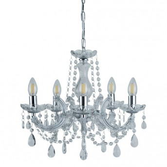 Ceiling Light Searchlight MARIE THERESE chrome, 5-light sources