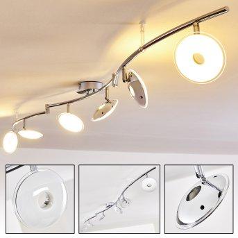 IBEX Ceiling light LED chrome, 6-light sources