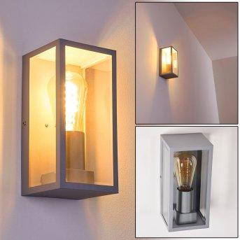 Hakkas Outdoor Wall Light silver, 1-light source