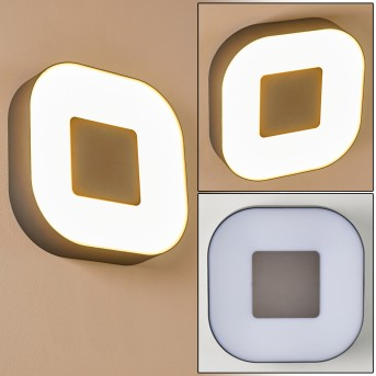 Outdoor Wall Light Feldsted LED silver, 1-light source, Colour changer