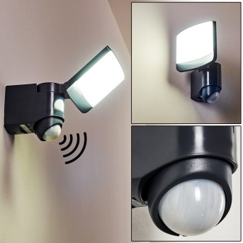 Outdoor Wall Light Larvik LED anthracite, 1-light source, Motion sensor