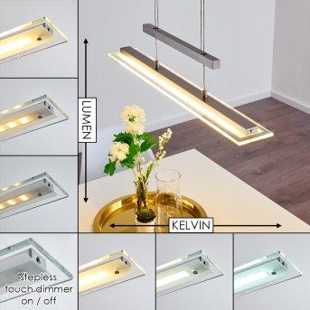 Junsele Pendant Light LED matt nickel, 3-light sources