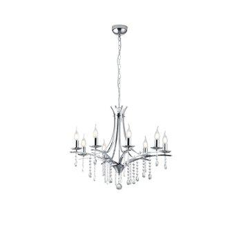chandelier Trio Leuchten LUCERNA chrome, 8-light sources