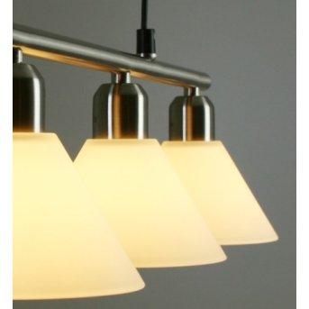 Trio 3751 pendant light matt nickel, stainless steel, 3-light sources