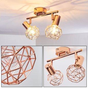 PALMIRA Ceiling light copper, 2-light sources