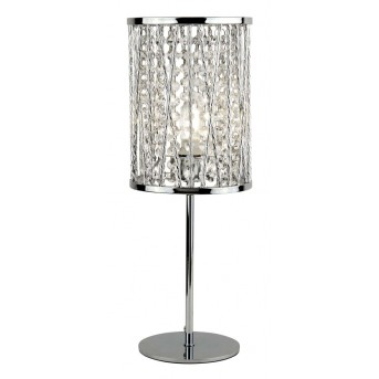 Table Lamp Searchlight ELISE chrome, transparent, clear, 1-light source