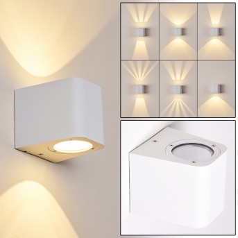 MAPUTO Outdoor Wall Light LED white, 2-light sources