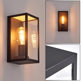 Hamra Outdoor Wall Light black, 1-light source