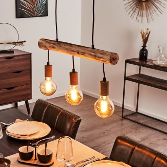 Pendant Light Gondo rust-coloured, 3-light sources