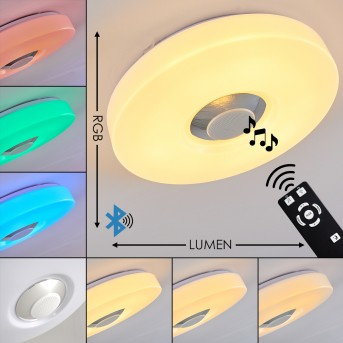Athlone Ceiling Light LED white, 2-light sources, Remote control, Colour changer