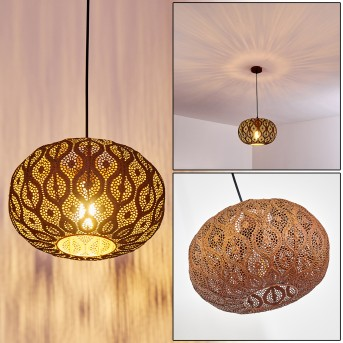 KEMER Pendant Light rust-coloured, 1-light source