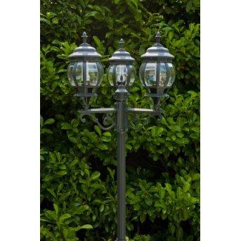 Massive myGarden DUBROVNIK lamppost black, green , transparent, clear, 3-light sources
