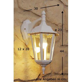 Konstsmide FIRENZE outdoor wall light white, transparent, clear, 1-light source