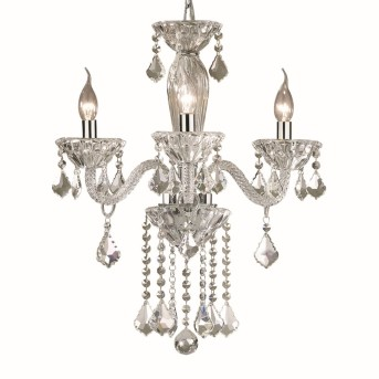 Ideal Lux TIEPOLO Chandelier chrome, Crystal optics, 3-light sources