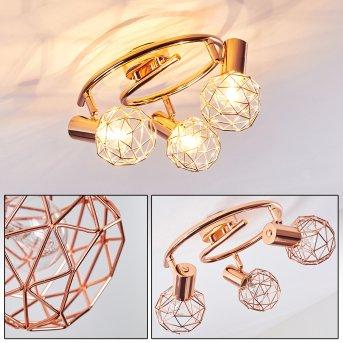 PALMIRA Ceiling light copper, 3-light sources