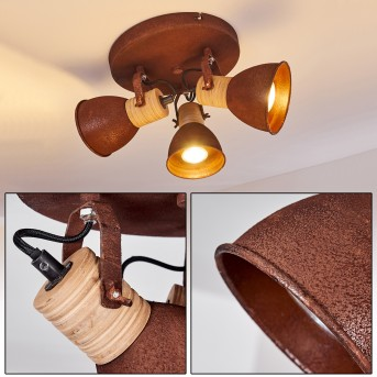 KINZUA Ceiling Light rust-coloured, 3-light sources