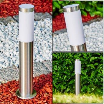 Pedestal light Norburg stainless steel, 1-light source