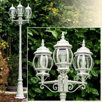 Kobe lamppost white, 3-light sources