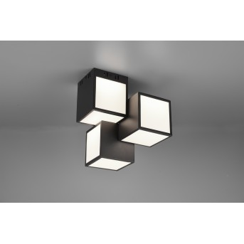 Trio OSCAR Ceiling Light LED black, 1-light source, Remote control, Colour changer
