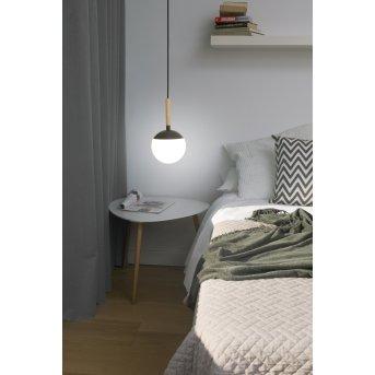 Faro Barcelona Mine Pendant Light grey, Dark wood, 1-light source