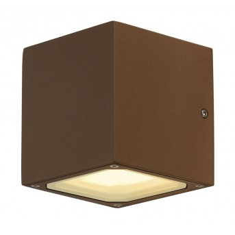 Outdoor Wall Light SLV SITRA CUBE rust-coloured, 2-light sources