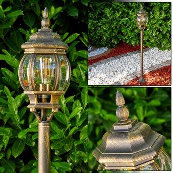 Lentua outdoor Floor Lamp brown, gold, 1-light source