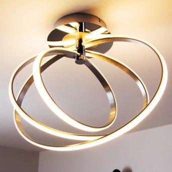 Trio Corland ceiling light LED chrome, 1-light source