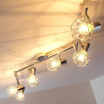 Annai ceiling spotlight chrome, 6-light sources