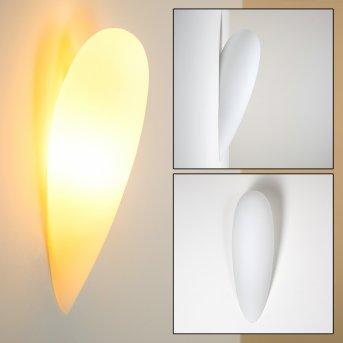 Kubbe Wall Light white, 1-light source