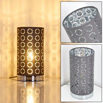 SONDERBORG Table Lamp chrome, grey, 1-light source