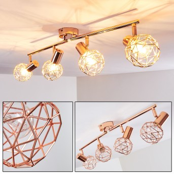 PALMIRA Ceiling light copper, 4-light sources