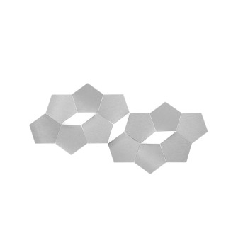 Grossmann LINDE Wall Light LED aluminium, 3-light sources