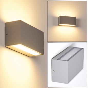 DULUTH Outdoor Wall Light LED grey, 1-light source