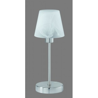 Trio 5955 table lamp matt nickel, 1-light source