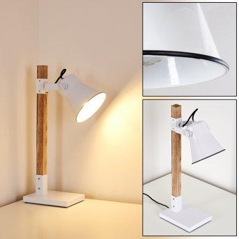 OKSBOL Table Lamp brown, white, 1-light source