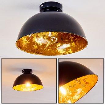 Hofstein Nome ceiling light black, 1-light source