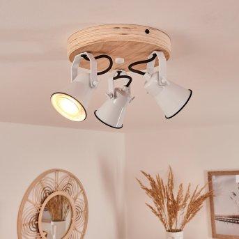 Skodsbol Ceiling Light white, Light wood, 3-light sources