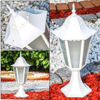 HONGKONG FROST pedestal light white, 1-light source