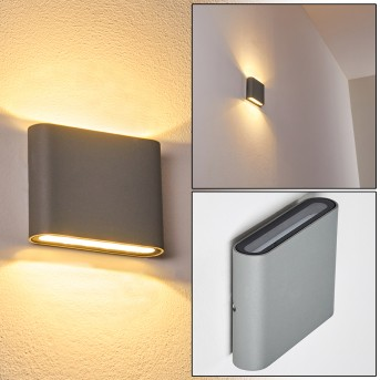 Outdoor Wall Light Tinglev LED grey, 2-light sources