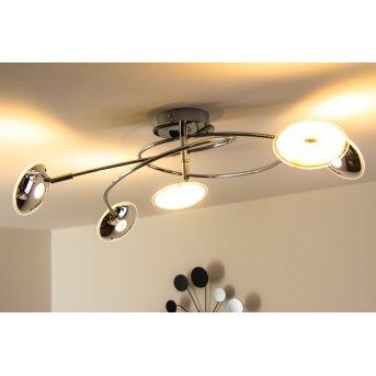 Trio Pilatus ceiling light LED chrome, 5-light sources