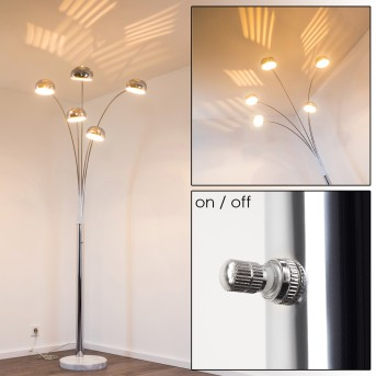 NIKKALA Floor Lamp chrome, 5-light sources