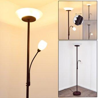 GISMARO Floor Lamp rust-coloured, 3-light sources