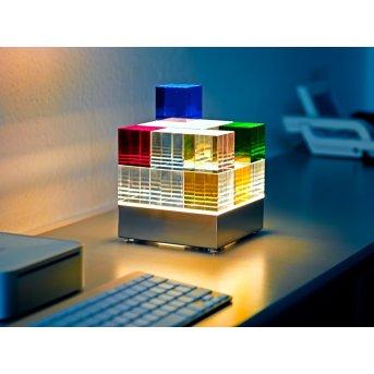 Tecnolumen Cubelight Table lamp LED clear , colourful, 1-light source