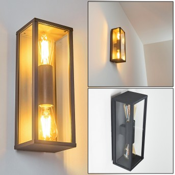 Kiwalik Outdoor Wall Light anthracite, 2-light sources