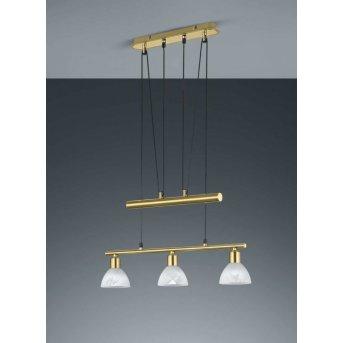 Trio LEVISTO hanging light LED brass, 3-light sources