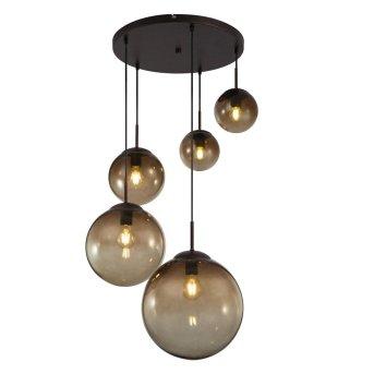 Globo VARUS Pendant Light black, brown, 5-light sources