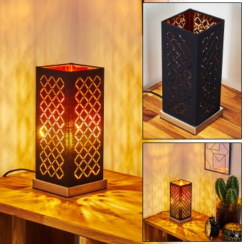 MELDAL Table lamp matt nickel, black, 1-light source