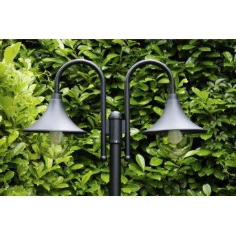 Brilliant Berna outdoor floor lamp black, 2-light sources