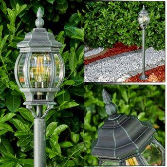 Lentua outdoor Floor Lamp black, green , 1-light source